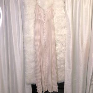 Blueh Ciel Striped Maxi Dress